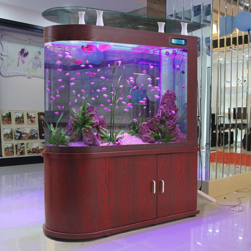 嘉洋子弹头鱼缸吧台自循环生态家用大中型客厅落地屏风免换水造景