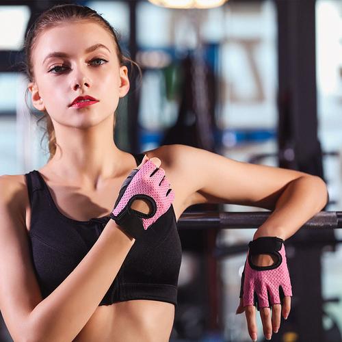 健身手套女骑行锻炼半指动感单车训练透气防滑耐磨薄瑜伽运动手套