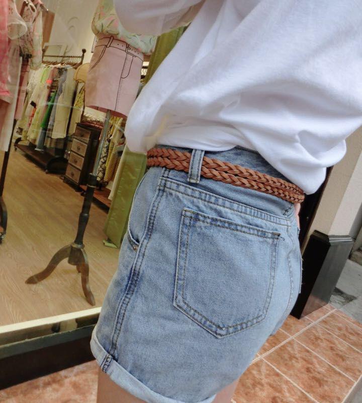 女士编织皮带女夏装饰休闲裙带时尚针扣细腰带学生裤带女百搭韩版