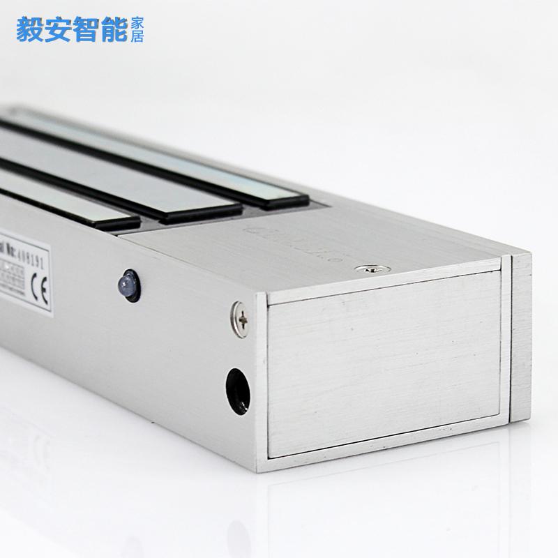 重型门禁电磁锁DC12v24V单门磁力锁500kg 五线带门磁反馈防水室外
