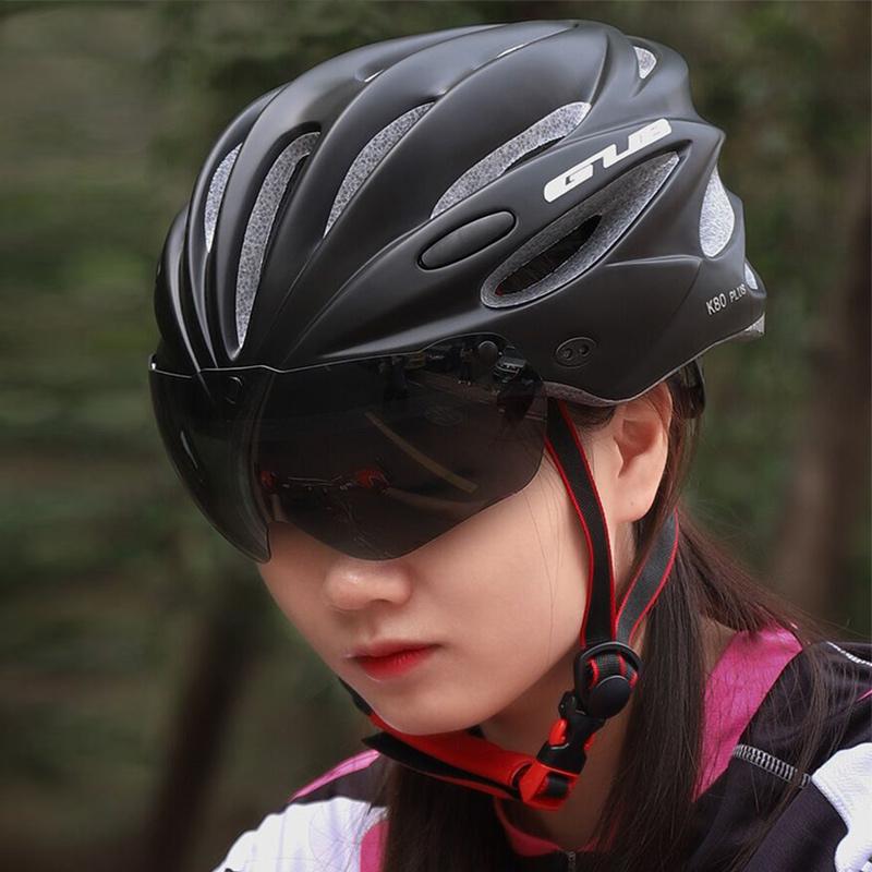 GUB K80 PLUS山地自行車頭盔男女一體式騎行頭盔帶眼鏡風鏡公路車