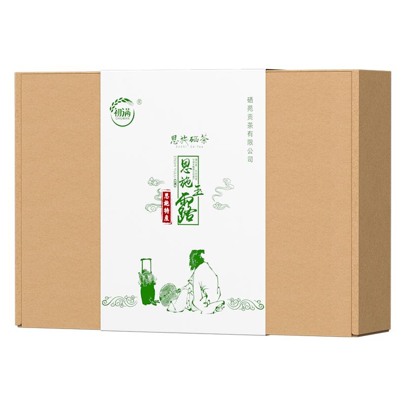 克富硒茶旗舰店 500 年新茶叶一级送礼盒装 2020 湖北恩施玉露茶绿茶