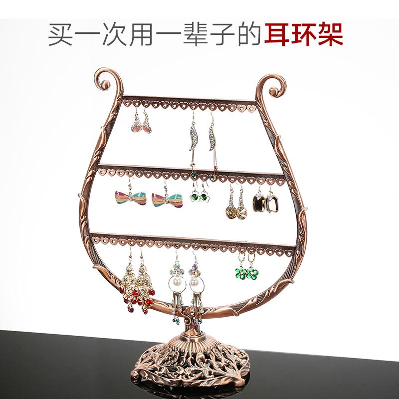 创意耳环架饰品展示架首饰盒旋转架子挂耳钉耳饰耳坠项链家用收纳