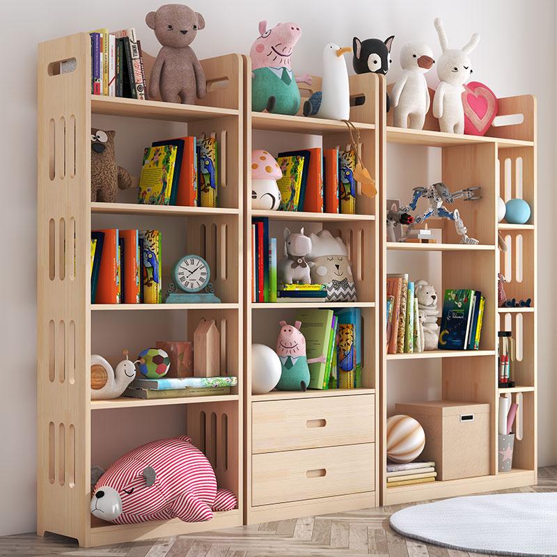 简约客厅实木家用学生小书柜子