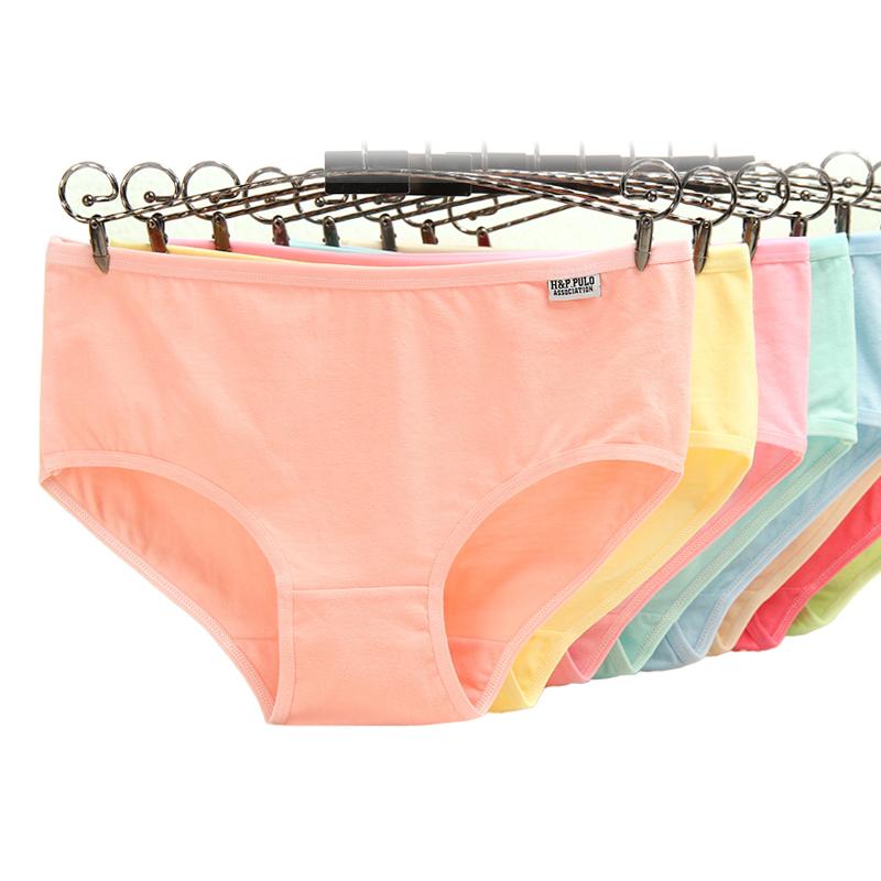 10条装纯棉内裤女性感蕾丝边内裤