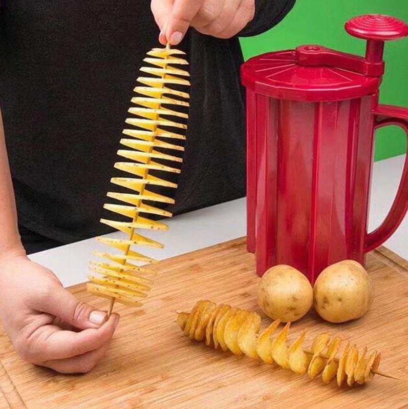 韓國多功能旋風薯塔機手動商用龍捲風切土豆機器薯片機半自動拉伸