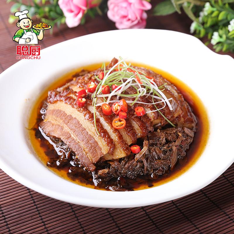 虎皮红烧肉加热即食 梅干菜扣肉 420g 聪厨香辣梅菜扣肉
