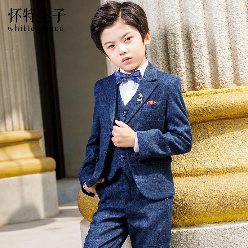 男童西装套装2020新款小花童礼服男小孩外套儿童
