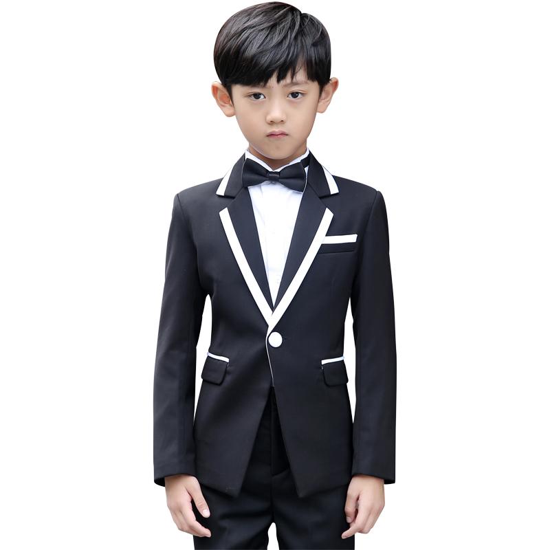 儿童西装礼服男套装小孩中大童走秀花童礼服男童小西服宝宝三件套
