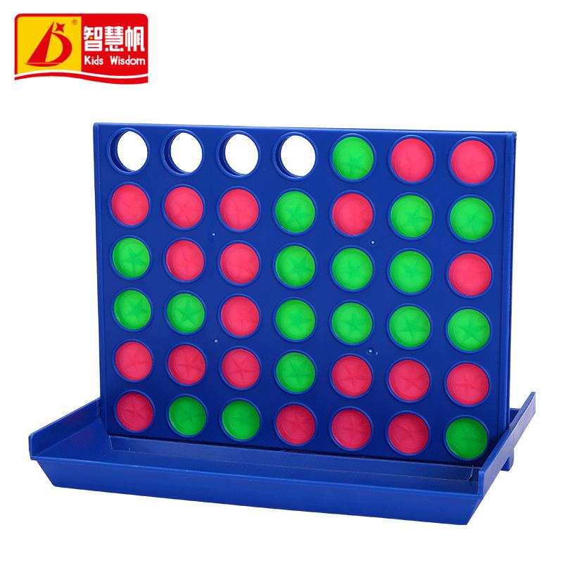 智慧帆宾果游戏五子四连棋儿童棋类玩具益智亲子桌游大立体四子棋