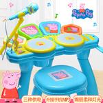 小猪佩奇架子鼓儿童电子琴玩具1-3岁初学者乐器爵士鼓6男女孩宝宝