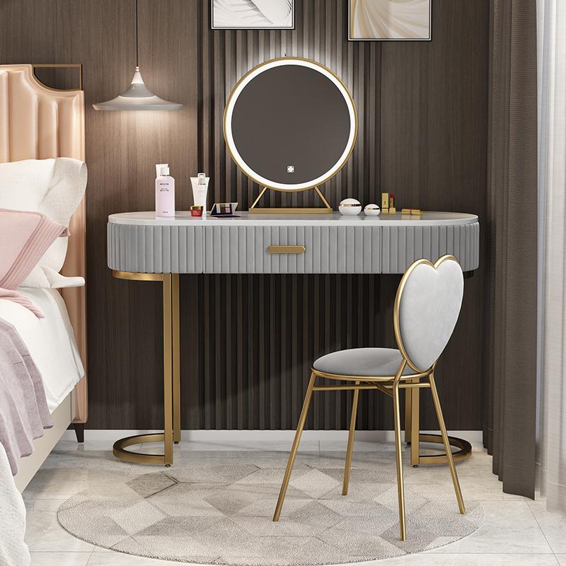 风化妆桌烤漆智能灯镜 ins 后现代网红 现代简约 大理石梳妆台卧室