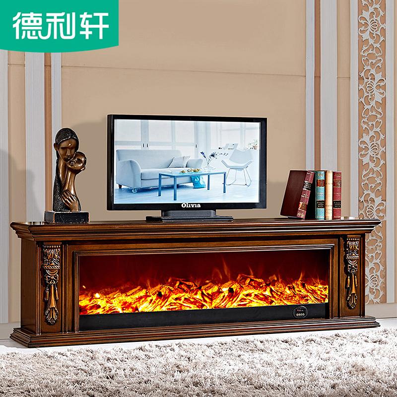2米電壁爐裝飾櫃簡約1.5模擬假歐式壁爐架定製實木美式壁爐電視櫃