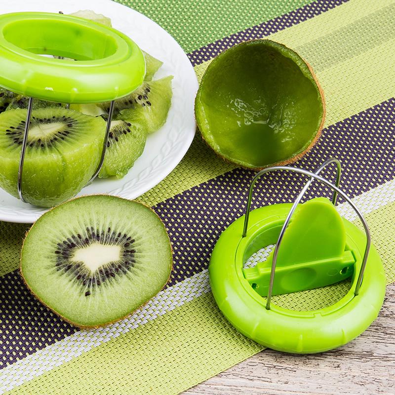 创意切猕猴桃去皮神器 挖猕猴桃削切片器水果刀奇异果皮分割工具