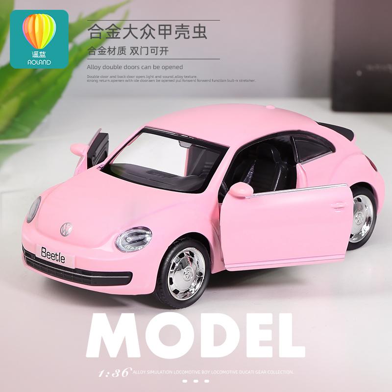 儿童合金跑车玩具奔驰宝马男女孩仿真宝宝金属回力小汽车模型摆件