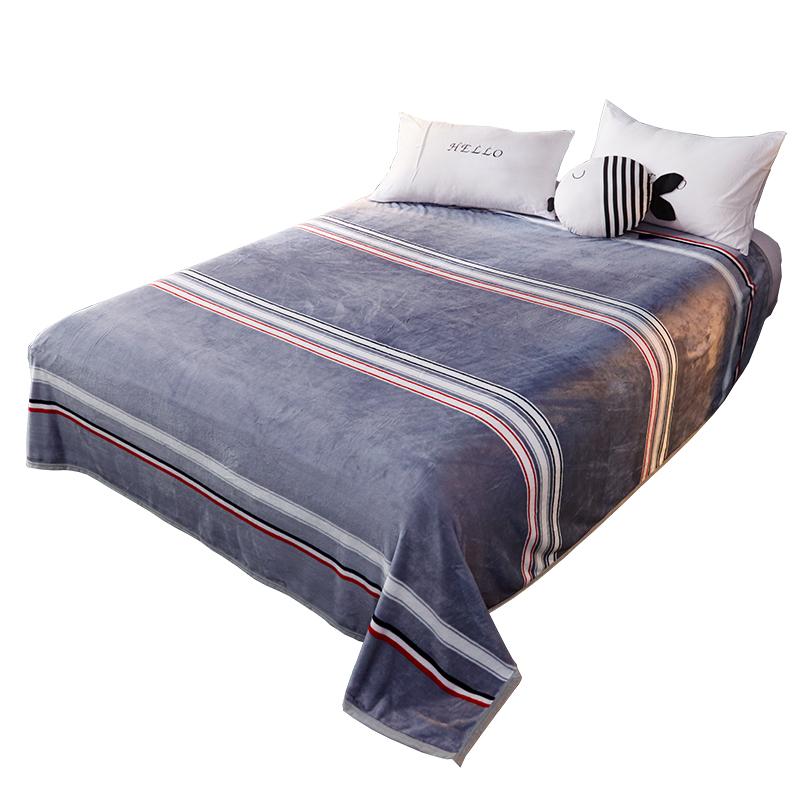 加厚毛毯被子珊瑚绒法兰绒床单人午睡夏季薄款单件办公室毯子卡通