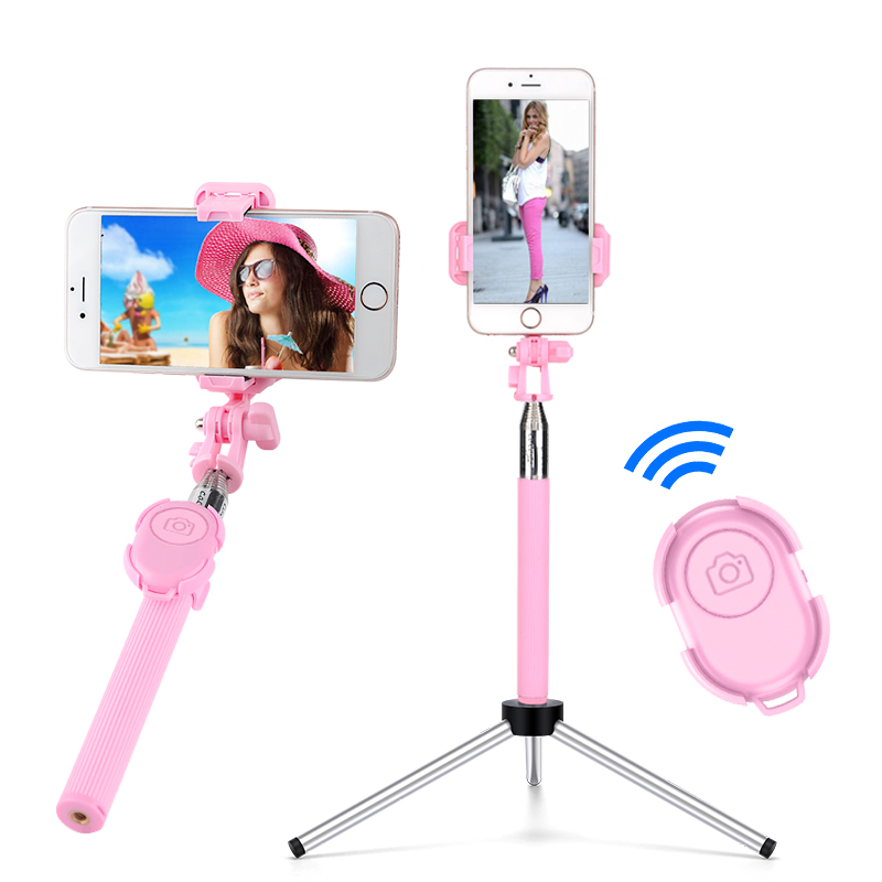 通用型自拍杆自牌干无线蓝牙带遥控三脚支架适用苹果华为手机加长一体直播自排棒照相拍照神器360自动旋转