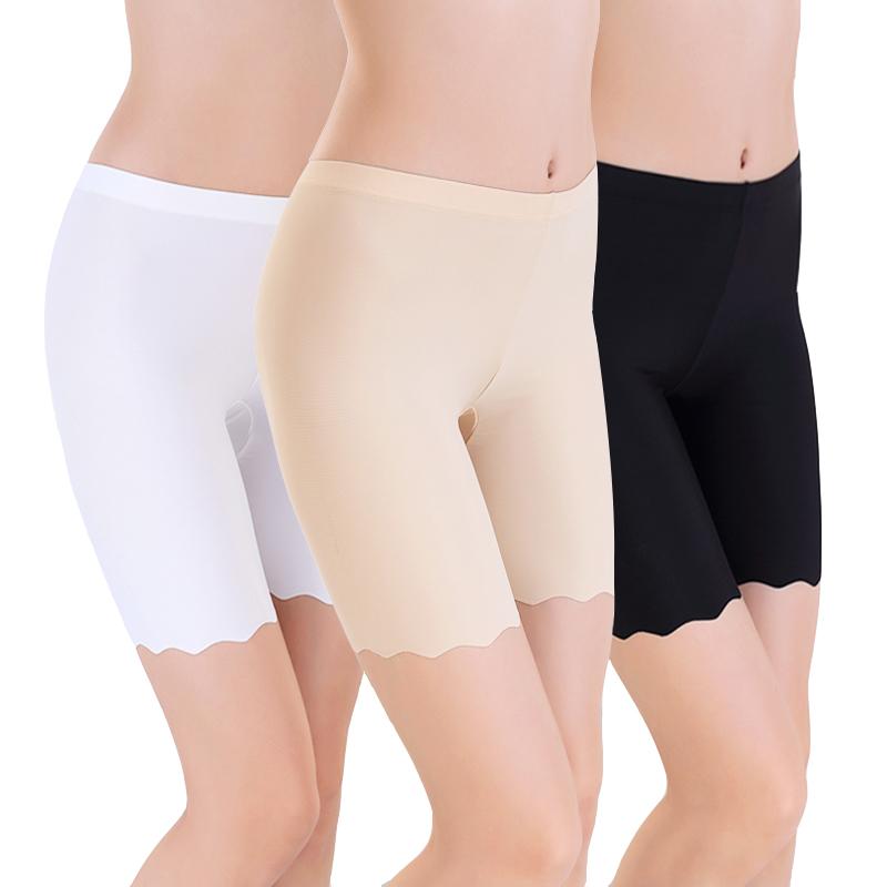 冰丝安全裤女士防走光夏薄款无痕内裤大码三五分高腰打底保险短裤