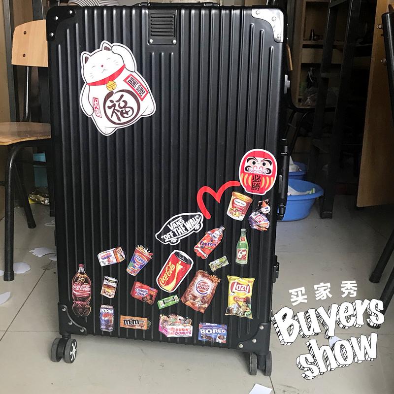 大张招财猫贴画卡通旅行箱贴纸笔记本墙壁冰箱行李箱贴防水197