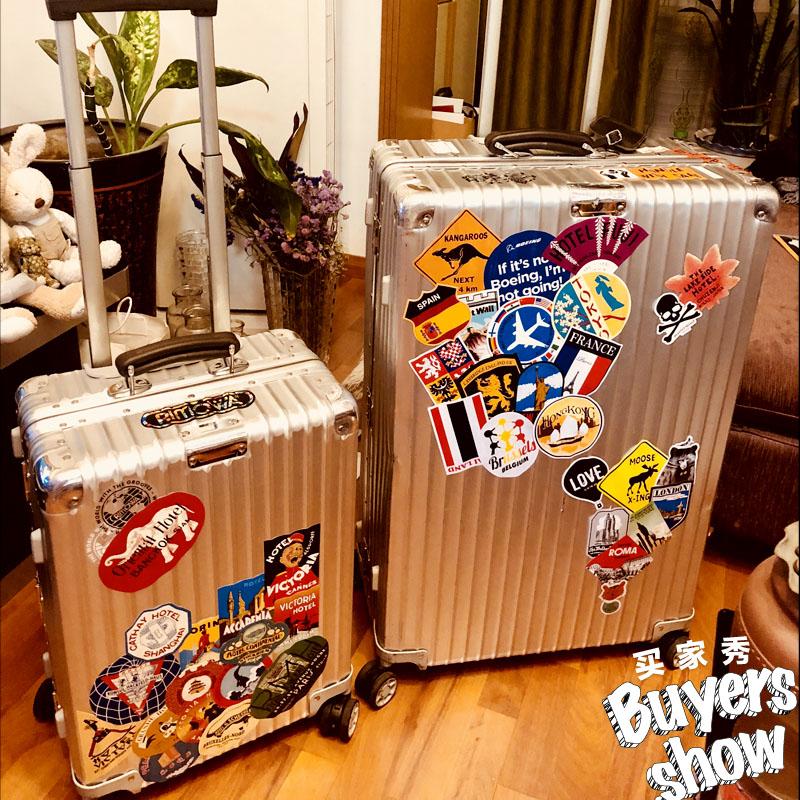 复古怀旧行李箱贴纸欧美笔记本吉他衣柜旅行箱贴拉杆箱子防水箱贴