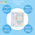 Bainbao Baby Oral Cleansing Gauze Towel Disposable Saliva Towel Wet and Dry Butt Washing Without Fluorescent Agent