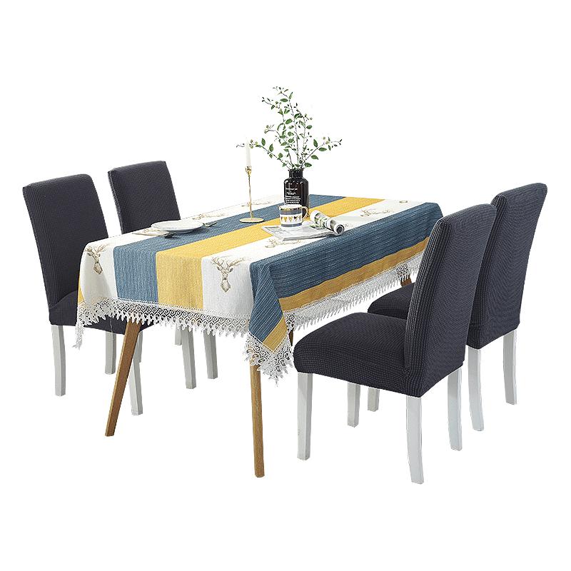 北欧布艺桌布茶几桌布美式家用棉麻餐桌布小清新桌垫台布椅套套装
