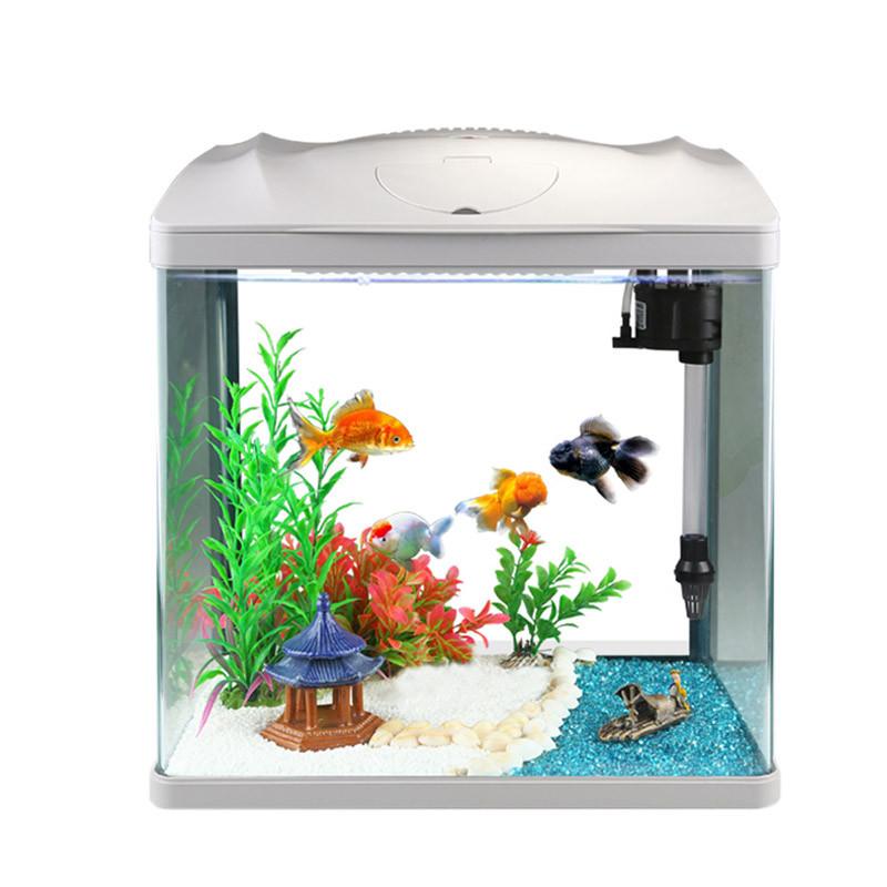 森森鱼缸水族箱生态桌面金鱼缸玻璃迷你小型客厅懒人免换水家用缸