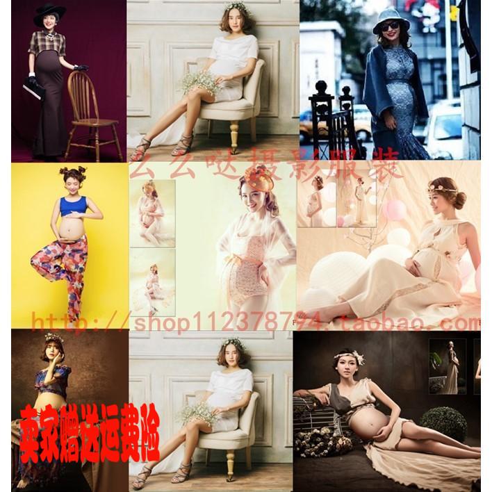 新款/韓版/影樓孕婦裝/孕婦寫真服裝/時尚孕婦拍照媽咪攝影服套裝