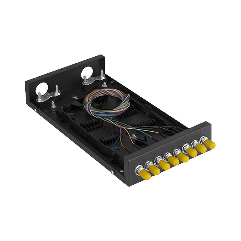满配 光线盒熔接盒接续盒光缆接头盒含尾纤 光纤终端盒 ST 口 8 粤信