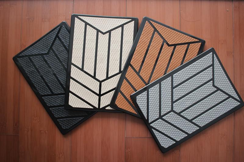 全包围汽车脚垫专用防滑钢板 不锈钢踏板 休息区脚踏垫 防滑垫