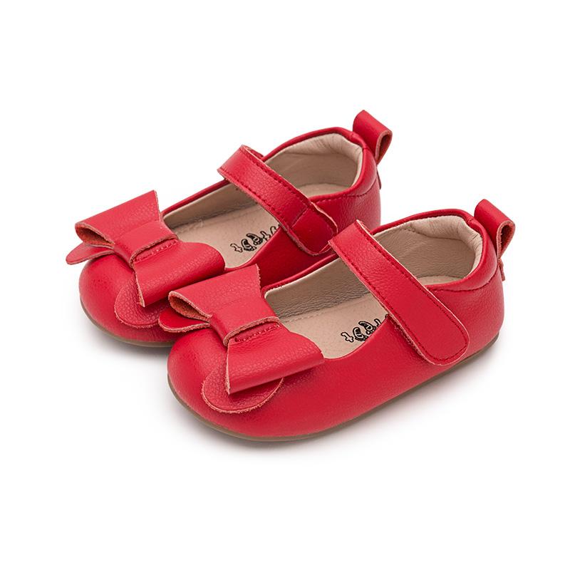 babyfeet宝宝学步鞋 软底真皮女童公主鞋 春秋儿童单鞋皮鞋1-3岁