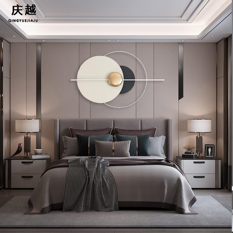 轻奢客厅沙发背景墙装饰挂件现代简约餐厅卧室墙面圆形金属壁挂饰