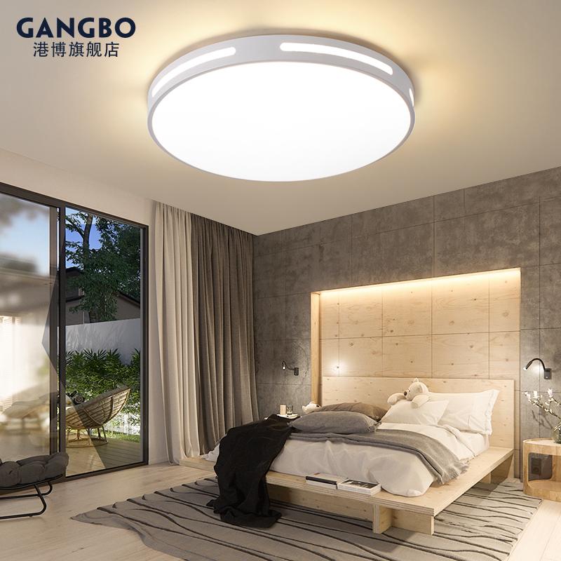 新款卧室灯具 2019 吸顶灯主卧灯超薄圆形温馨简约现代客厅房间 led