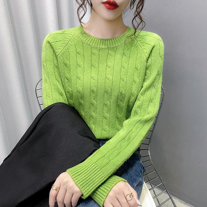 慵懒风毛衣女士打底衫2021年秋冬新款内搭爆款洋气短款