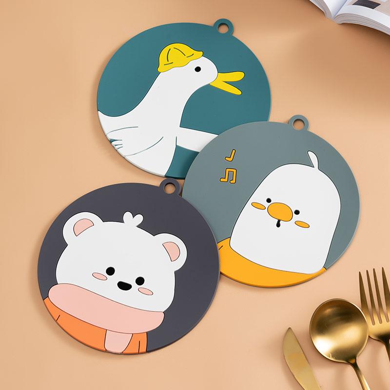 senseyo卡通可爱隔热垫砂锅垫子家用餐桌垫防烫餐具碗垫防水