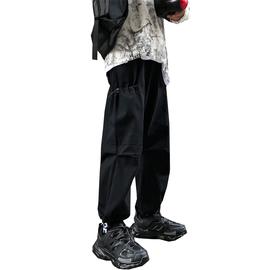 工装裤男秋冬款裤子韩版潮流宽松直筒裤ins冬季休闲长裤痞帅束脚
