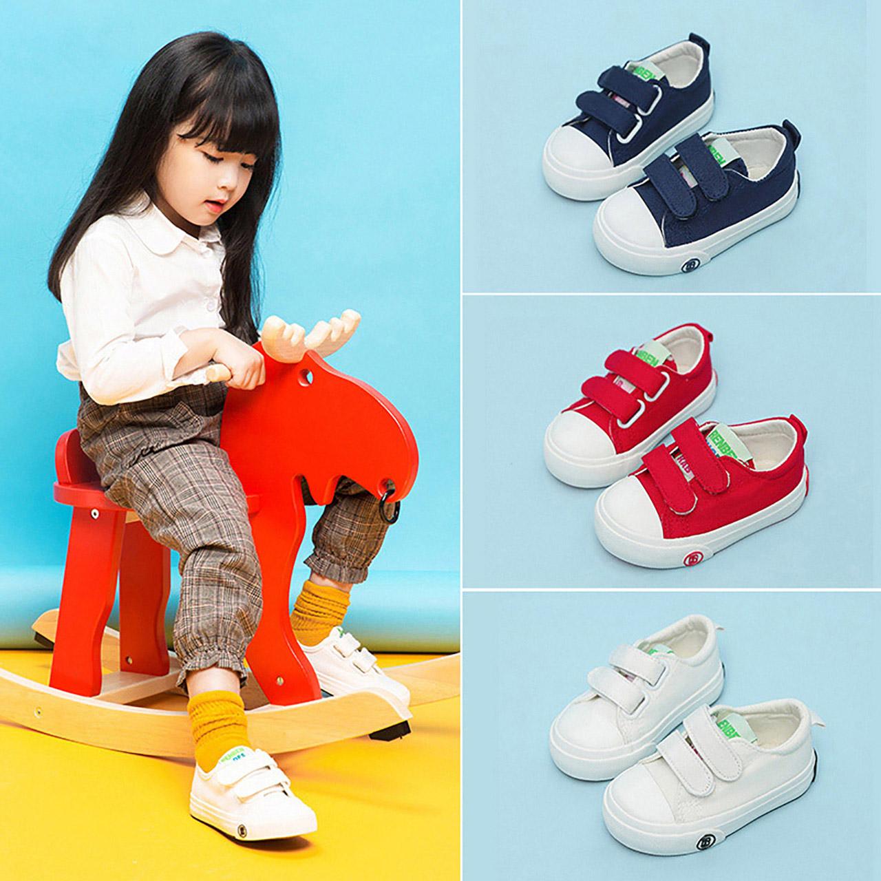 人本帆布鞋男童鞋子儿童鞋宝宝布鞋小童板鞋春秋小白鞋女童室内鞋