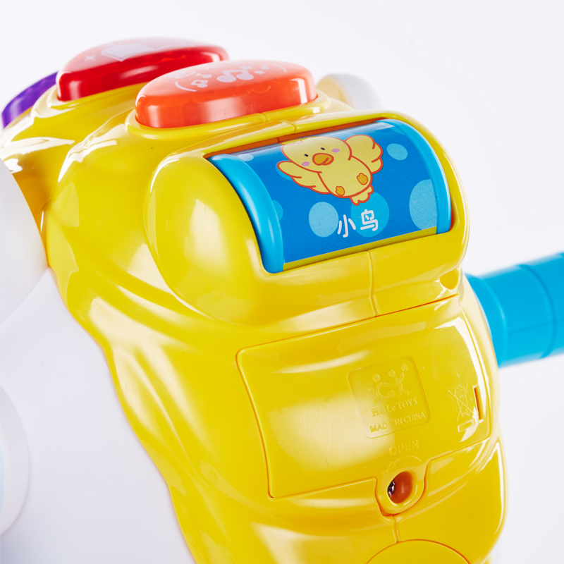 汇乐玩具快乐摇马小木马塑料宝宝摇摇马婴儿两用音乐摇椅儿童