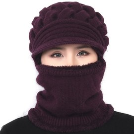 冬天中年韩版围脖女士2018个性女土帽子新款时尚百搭冬季妈妈女帽