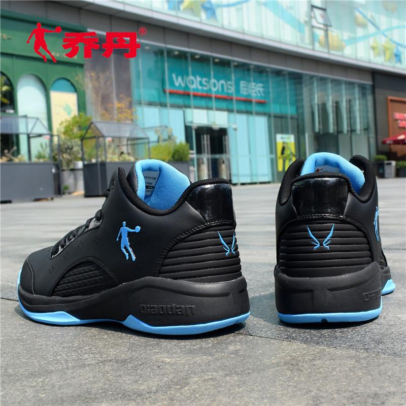 乔丹篮球鞋低帮学生专业比赛球鞋白黑色简约男运动鞋冬款透气战靴