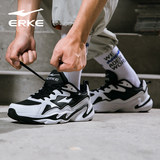 Hung Xing Erke official flagship store men's shoes sneakers men's 2019 fall red casual running shoes daddy shoes men
