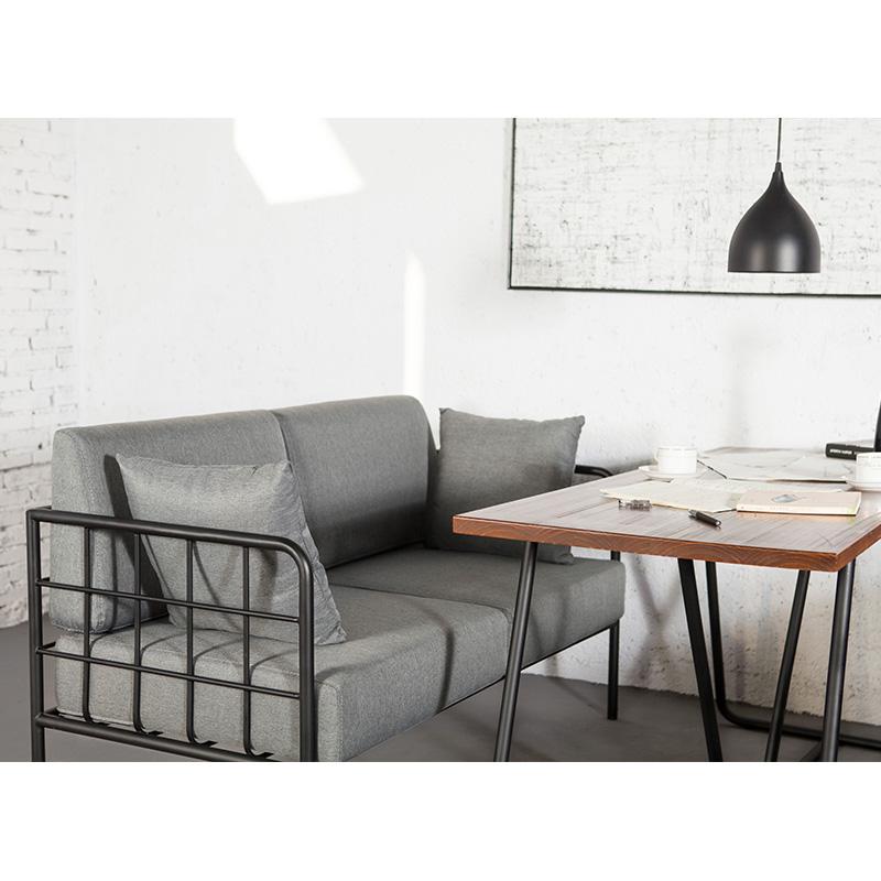 沙发卡座简约北欧咖啡厅铁艺简约小户型沙发西餐厅办公洽谈桌椅