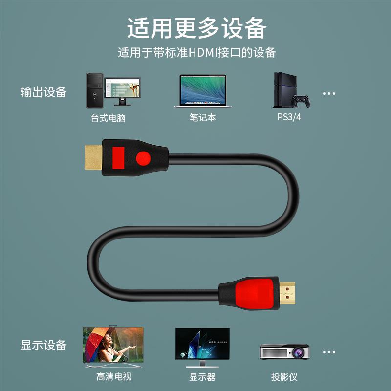 高清hdmi线2.0版4k高清线3d电脑电视数据连接线液晶显示器 机顶盒ps4投影仪分割器切换器HDMI 2.0线【图3】