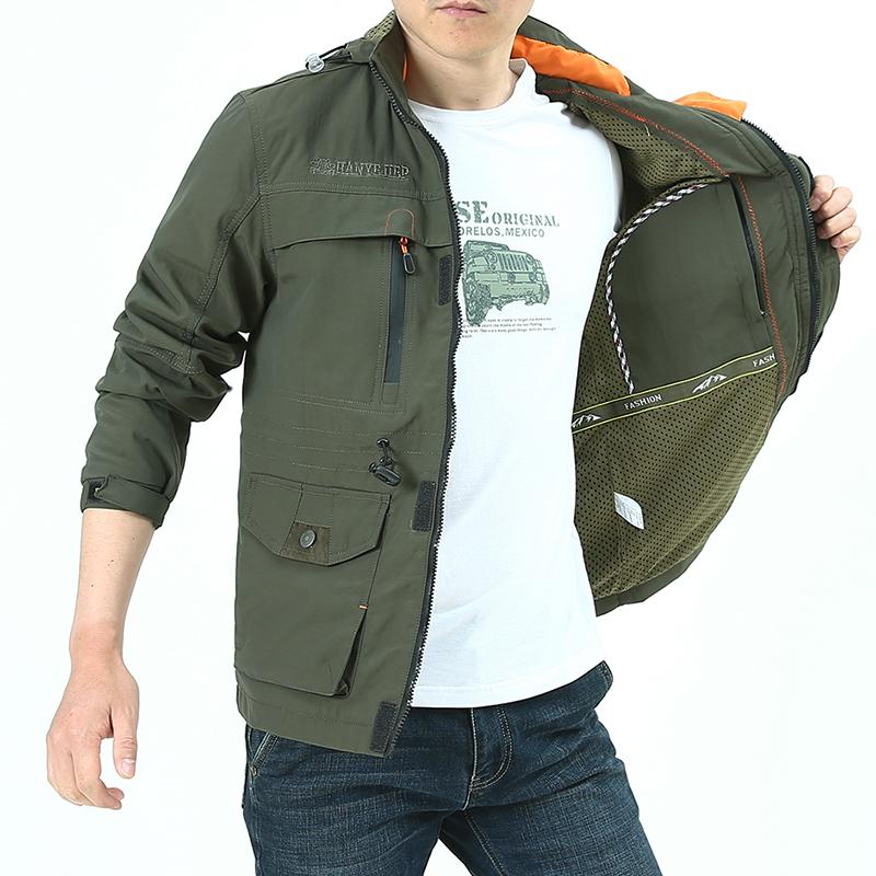 神州骆驼冲锋衣男户外休闲秋装上衣夹克男中年加绒男士外套春秋款