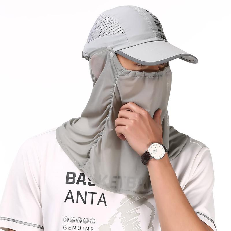 运动太阳帽子男女登山遮阳防晒帽速干防蚊帽钓鱼骑行遮脸防晒面罩