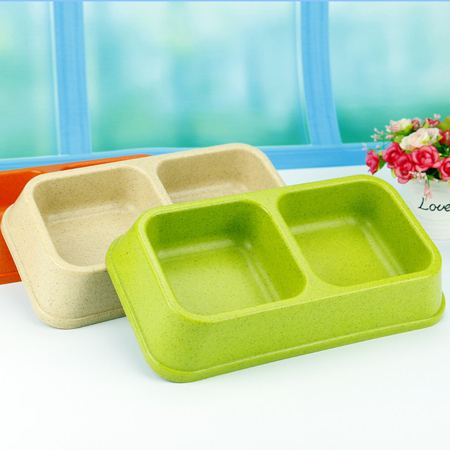 Pet food bowl Bobo pet double bowl Water and rice dual-use bowl Teddy VIP Bulldog rice bowl Dog bowl