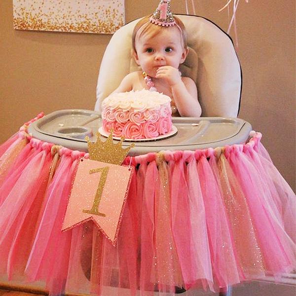 网纱DIY蓬蓬桌裙tutu纱聚会拉花甜品台装饰用品派对生日餐椅布置