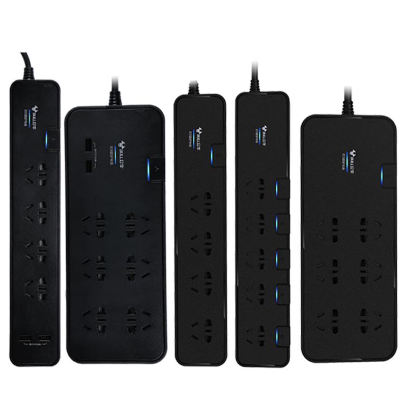 公牛插座抗电涌接线板插线板防电涌智能USB插板6插位过载保护家用
