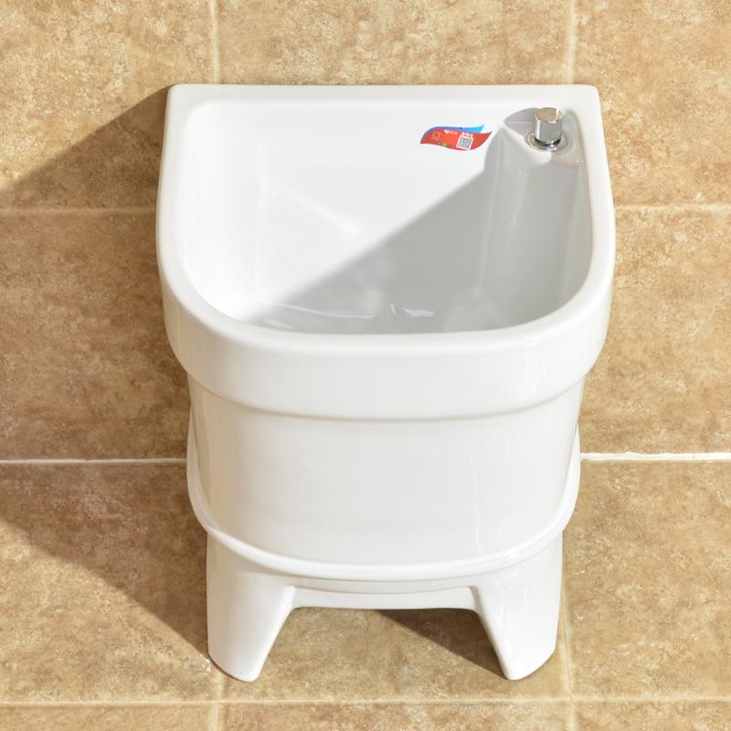 好亿家卫浴拖把池家用台控洗拖布池陶瓷盆阳台卫生间带龙头墩布池