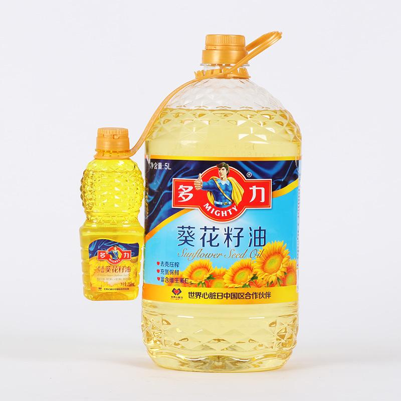 【买1送250ML】多力葵花籽油5L 物理压榨植物油食用油5升